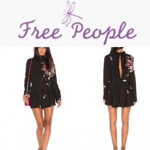 Free People Gemma Tunic Mini Dress Floral Medium